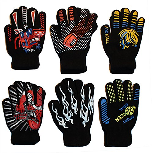 Gilbin Magic-Stretch Gripper Glove, Kids Size, Sports Set, 6 Pair (SIZE - Gripper Gloves Magic
