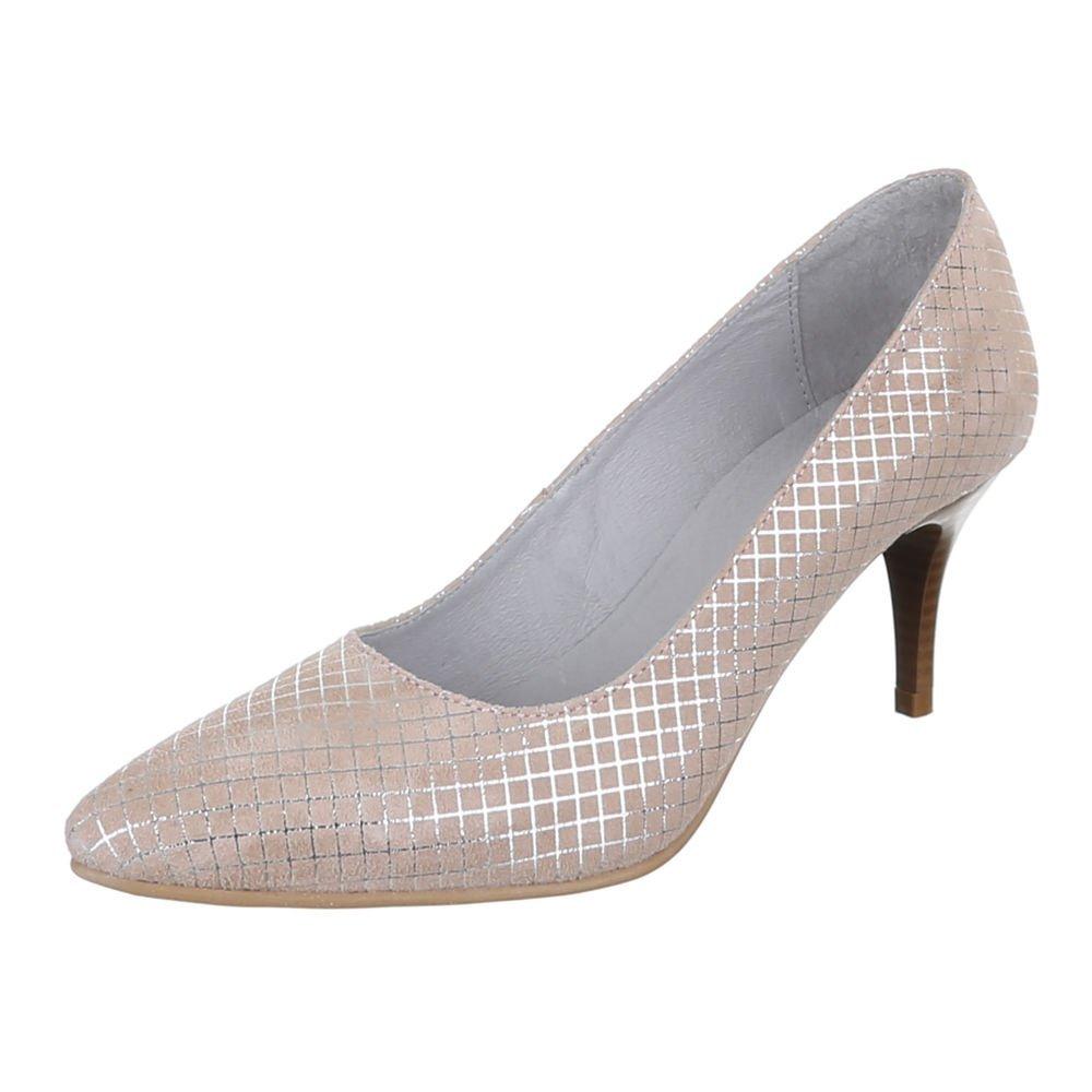 Damen Schuhe 5453 PUMPS LEDER HIGH HEELS
