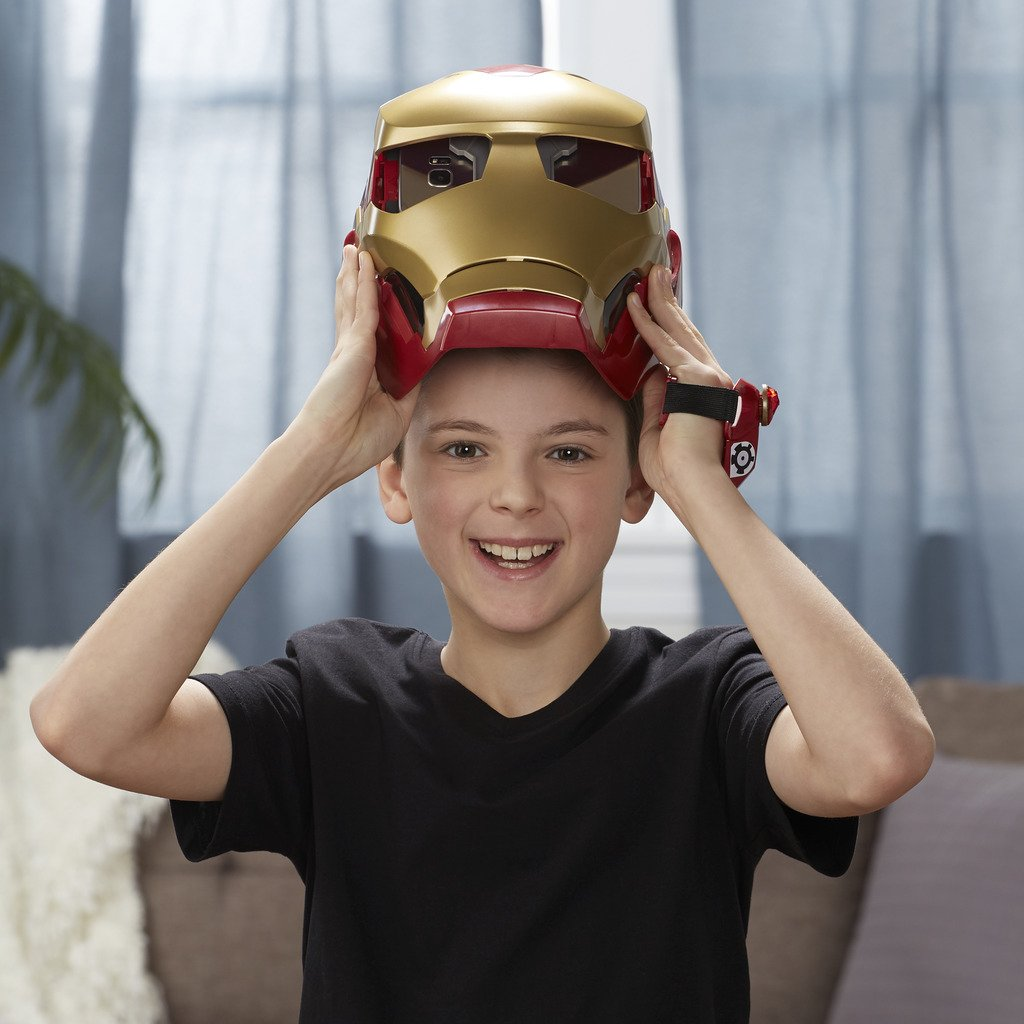Marvel Avengers- Hero Vision Iron Man Realidad Aumentada, Talla única (Hasbro E0849175)