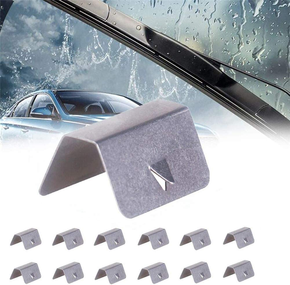 TONGXU 12pcs Stainless Steel Wind Deflector Retainer Clips Easy to Install Fixing Clips Mounting Clips Car Channel Clips for Heko G3 Sned