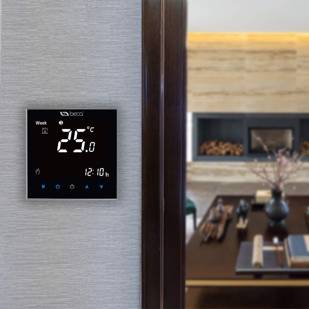 BECA 2000 Series 3 / 16A LCD Pantalla táctil Agua / Eléctrico / Caldera Calefacción Programación inteligente Termostato de control (Calentamiento de agua, ...