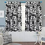Best Norbi Curtains For Living Rooms - Tropical Window Curtain Drape Artisan Exotic Hibiscus Flowers Review