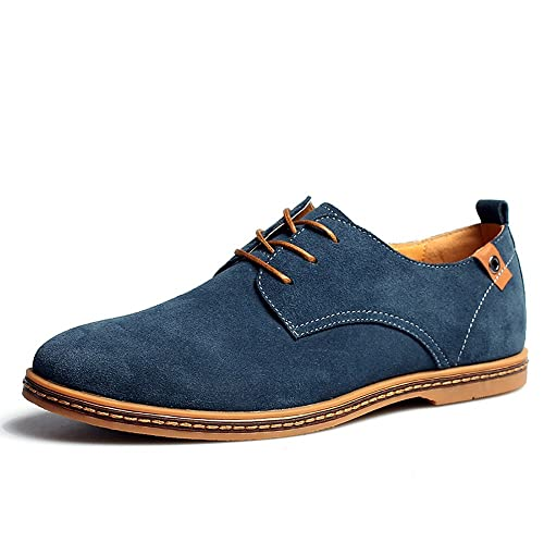 49ec0fd1 Bonways Zapatos de Cuero Casual Oxford Zapatos de Vestir Hombre Negro Azules:  Amazon.es: Zapatos y complementos