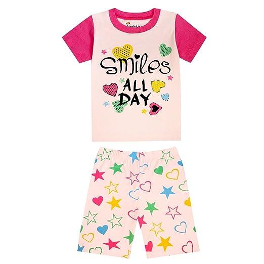 f6a65232be985 TinaLuLing 100 Cotton Girls Summer Short Sleeve Pajamas Sets Children  Sleepwear Pyjamas Kids Pijamas Pajamas for Girls
