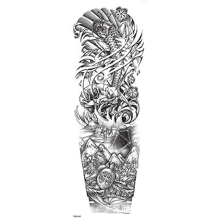 zgmtj Nuevo Impermeable Brazo Completo Tatuaje Pegatinas Tigre ...