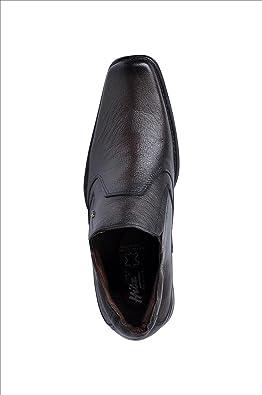 Hitz Mens Executive Leather Casual Shoes 8 UK Totone