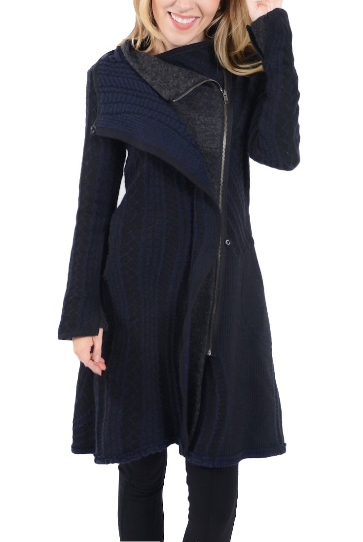 Aimee G Yorick Cable Sweater Coat (Medium)