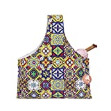 Knitting Tote Bag Yarn Storage Organizer for Small Projects (Glitzy Frescoes)