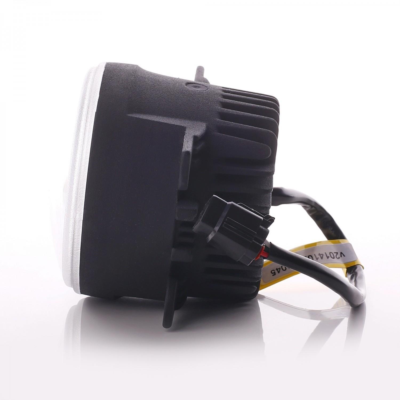 luz diurna DRL Faros Antiniebla redondo LED blanco 5050 SMD 6000 K Premium eintragung libre: Amazon.es: Coche y moto