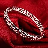 925 Sterling Silver Hollow Cuff bracelets for Women