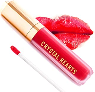 product image for CrystalHearts Matte Liquid Lipstick - Long-Lasting and Non Transfer Kiss Proof Makeup Lip Gloss- Cruelty & Paraben Free Hydrating Lip - Made in USA (Dahila)