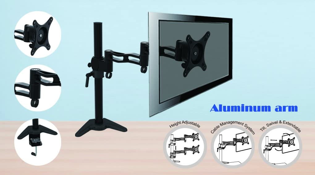 HFTEK Monitor TV Soporte de Mesa Desk Mounts FY084D