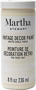 Martha Stewart Crafts Martha Stewart Vintage Decor Matte Chalk Ivory, 8 oz Paint, 8 Fl Oz