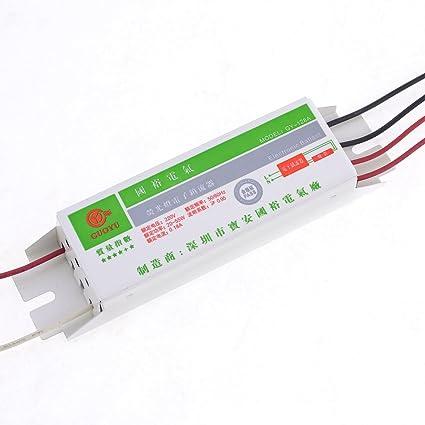sourcingmap Balastro de Lámpara Fluorescente Luz 20-55W Metal CA 220V 50/60Hz