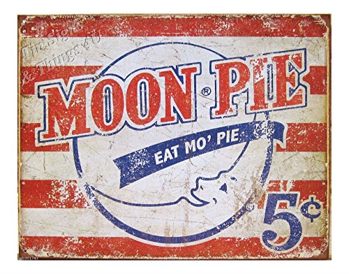 Eat Mo Moon Pie TIN SIGN metal retro vtg snack ad poster diner wall decor 1922 from Unknown
