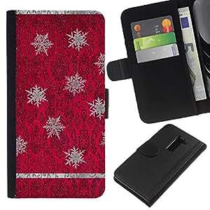 KingStore / Leather Etui en cuir / LG G2 D800 / Rojo púrpura del papel pintado de la vendimia;