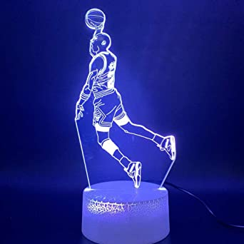 3D Luz De Noche Led Dunk Figura Lámpara Deportes Baloncesto ...