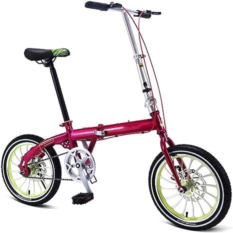Grimk Bicicleta Plegable Unisex Adulto Aluminio Urban Bici Ligera ...