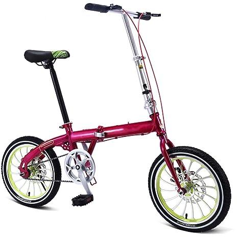 Bici Pieghevole Leggera.Grimk 16 Pollici Bici Pieghevole Uomo Leggera Alluminio