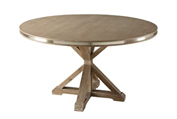 Industrial Contemporary Dining Room Furniture In Weathered Oak (Round  Dining Table)