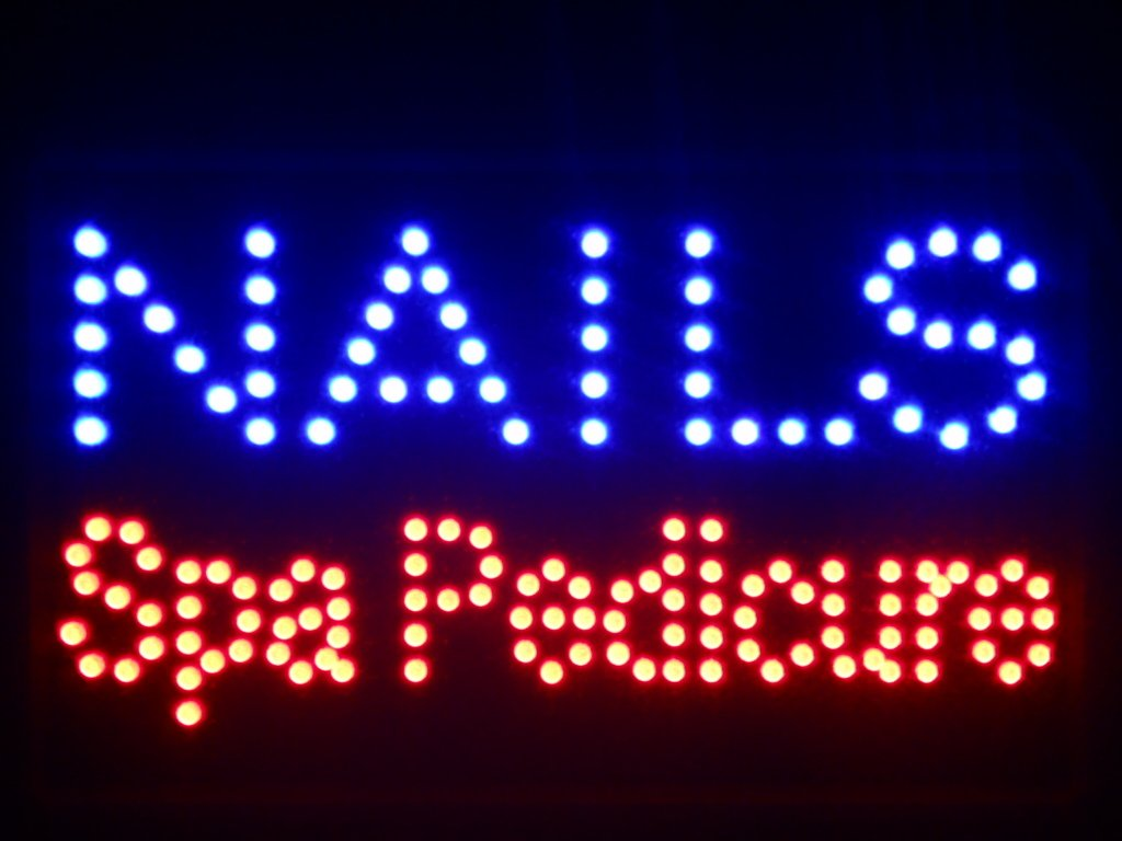 ADV PRO nled097-b Nails Spa Pedicure LED Neon Sign 16'' x 10''