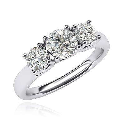 Diamant Trois Imitation Argent Massif Sterling Treillis Bague Pierre rCdBeWox