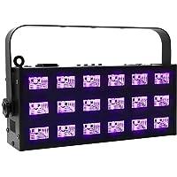 OPPSK barra de luz UV LED con 9 focos LED de 3W luz negra, Negro metálico