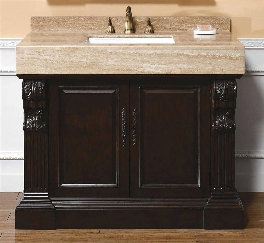 Bathroom vanities alexandria - James Martin Furniture Bathroom Vanity With Travertine Top In Dark Cherry Finish 497953 Amazon Com
