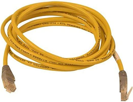 PcConnectTM CAT5E UTP Red 25 Foot Snagless//Molded Boot Ethernet Cable
