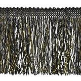 Expo International Tamra Chainette with Metallic Thread, 18-Yard, Black/Gold