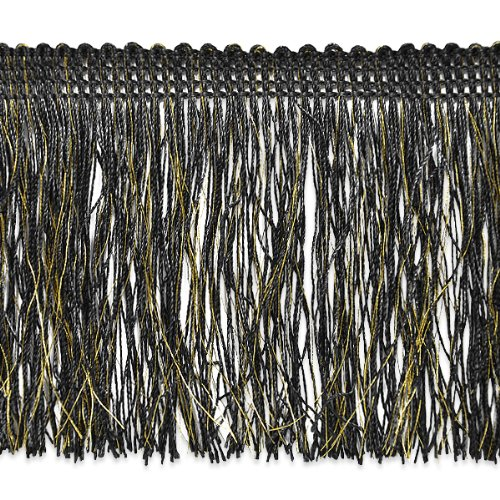Expo International Tamra Chainette with Metallic Thread 18-Yard Black//Gold