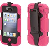 Griffin Pink/Black Heavy Duty Survivor All-Terrain Case for iPhone 4/4s - Extreme-duty case for iPhone 4 and iPhone 4S