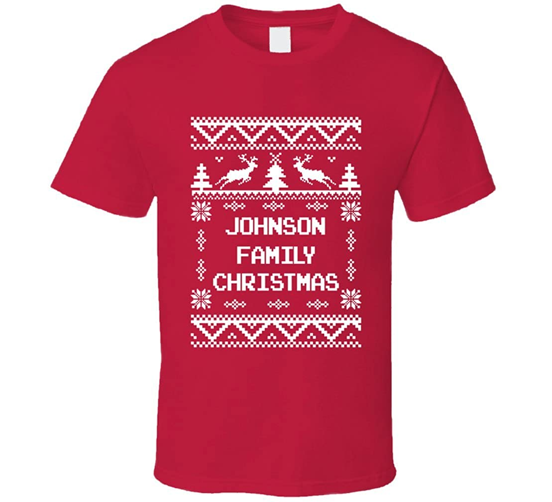 Amazon.com: South Beach Boys\' Johnson Family Christmas Ugly Sweater ...