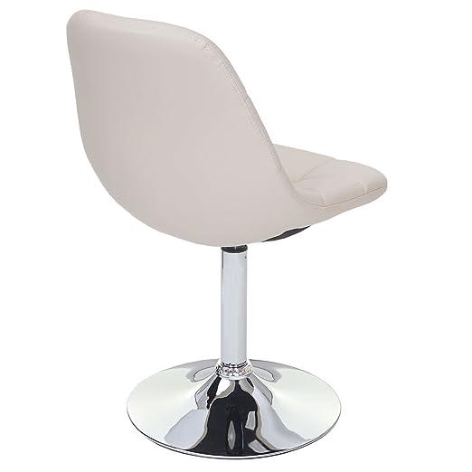 Kunstleder weiß Stuhl Lehnstuhl 2x Esszimmerstuhl MCW-C41