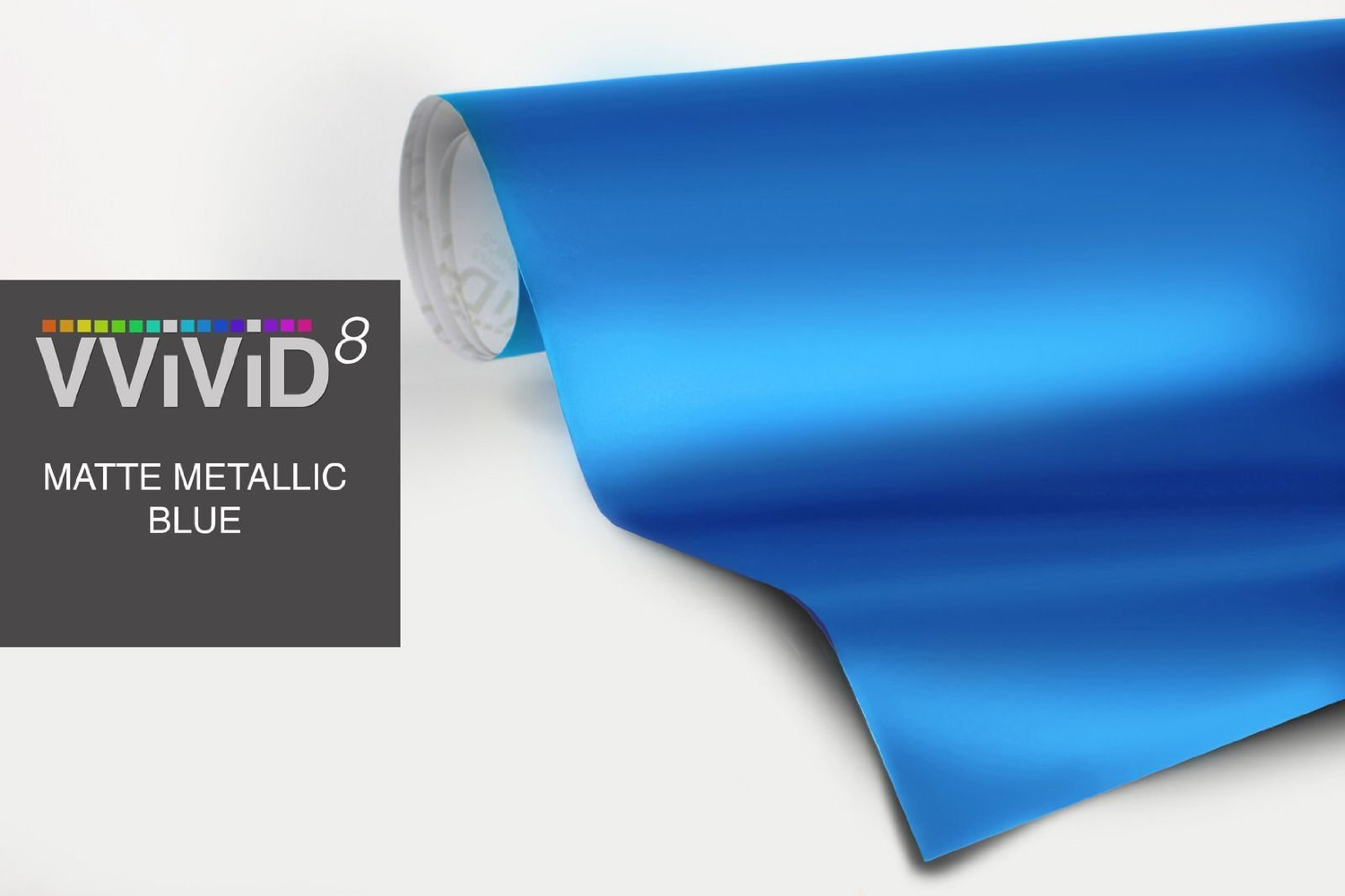 Matte Metallic Blue Vinyl Wrap Roll With VViViD XPO Air Release Technology 5ft x 5ft