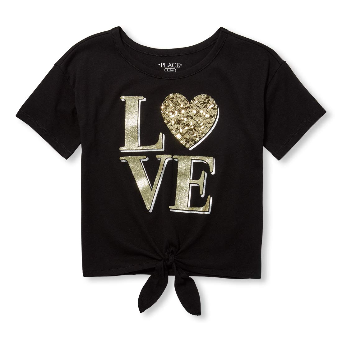 The Childrens Place Big Girls Short Sleeve Graphic Tops