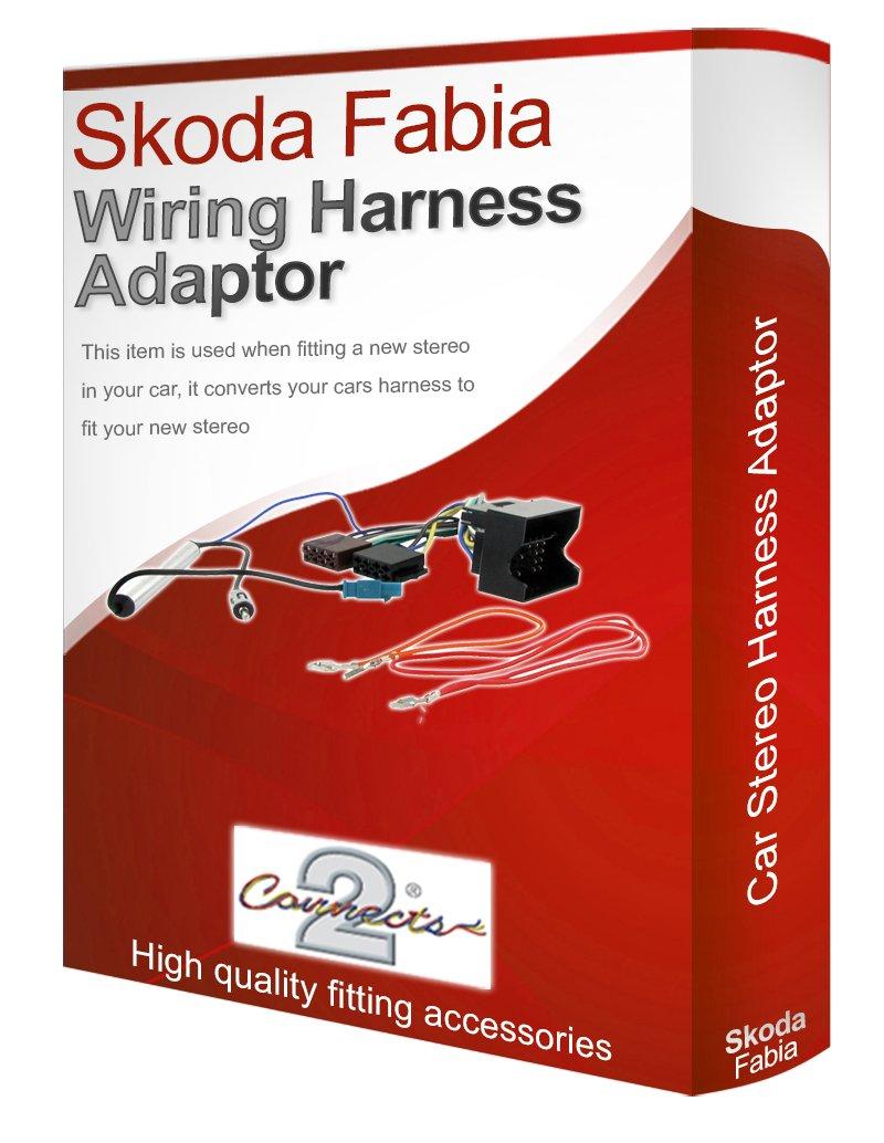 Skoda Fabia CD radio stereo wiring harness adapter lead: Amazon.co.uk:  Electronics
