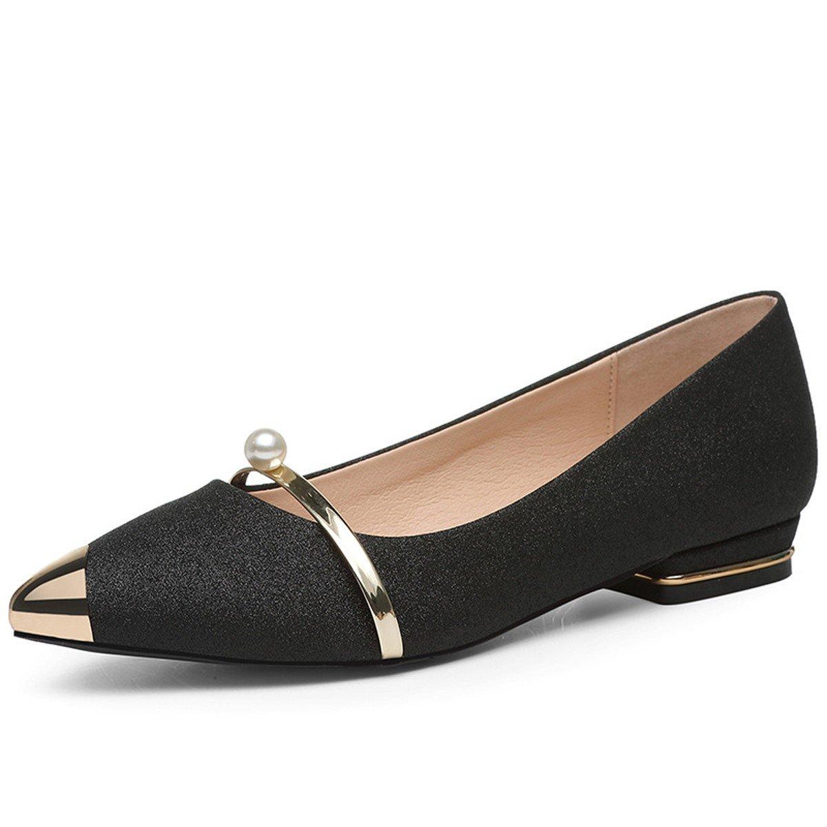 GTVERNH Damenschuhe Einzelne Schuhe Schuhe Sommer Scharfe Punkte Professionelle Arbeit Pedal.