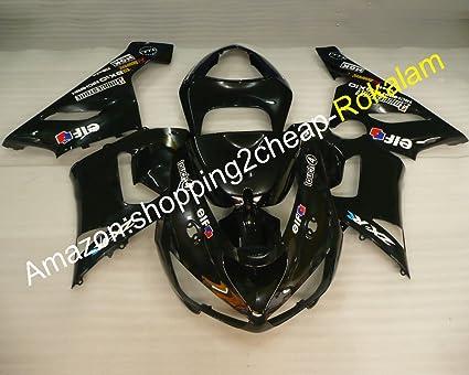 Amazon.com: 2005 2006 ZX 6R Black Fairing Fit For Kawasaki ...