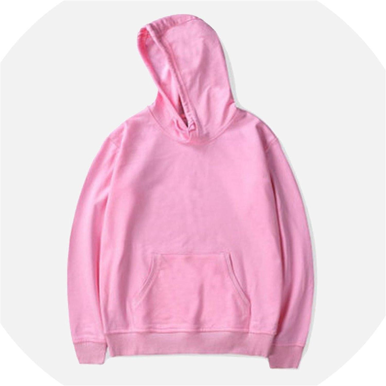 Hip-Hop Hooded Mens Sweatshirt Hoodies Spring Black Pink Male Pullover Hoody Mens Sportswear,Pink,S