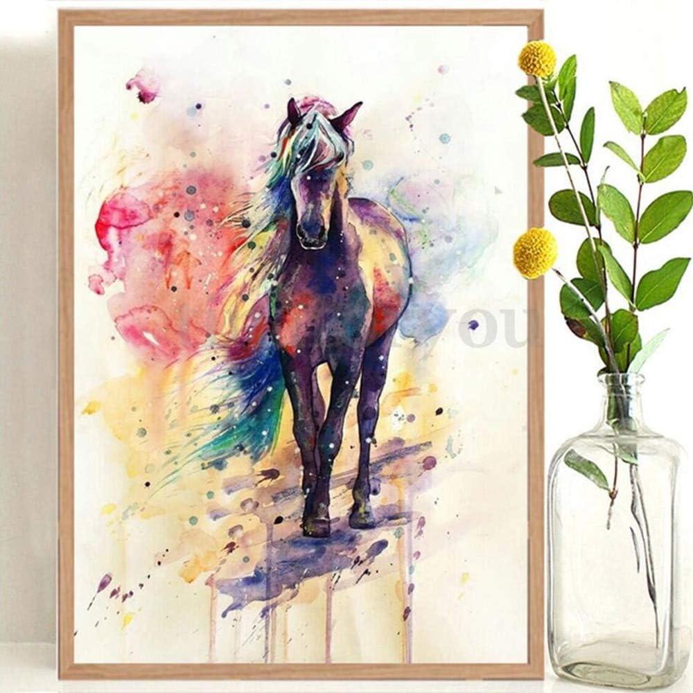 wopiaol Sin Marco Acuarela Rainbow Horse Pintura Decorativa Nordic Dream Animal Modern Simple Wall Art Pictures para Sala de Estar