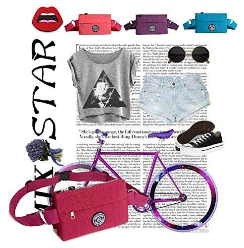 Women's Bag Waist Bag Fanny Multifunction Belt Watermelon Red Adjustable Lightweight Badiya Pack wgOdqBw