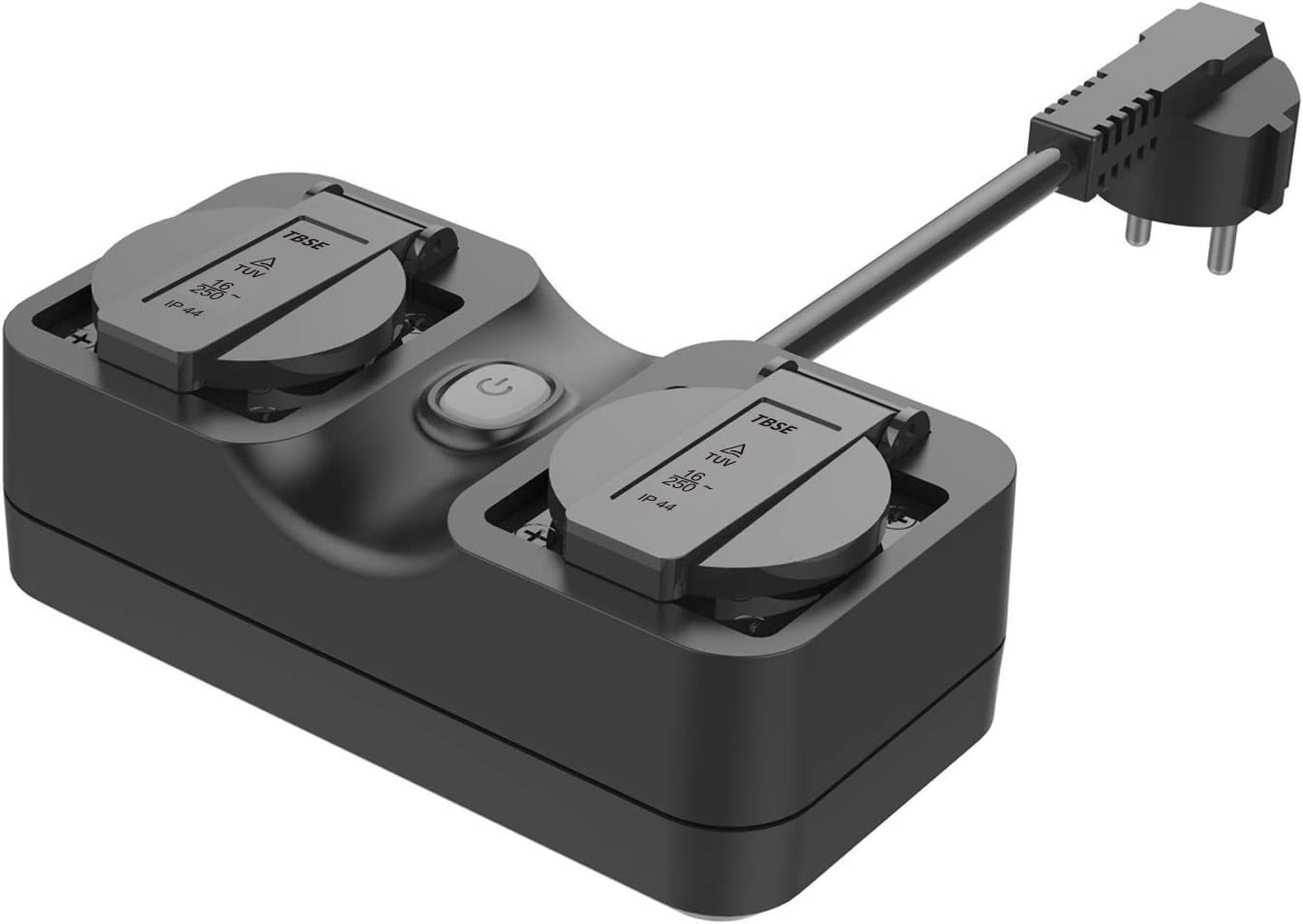 Meross Wlan Outdoor Steckdose Wasserdicht Smart Home Intelligente Wi Fi Außensteckdose Mit 2 Ausgänge Mit App Fernsteuerung Kompatibel Mit Alexa Google Home Und Ifttt Baumarkt