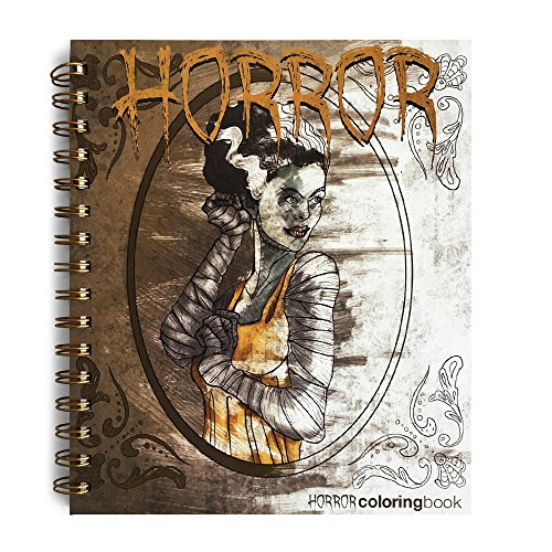 Action Publishing Coloring Book: Horror · Vampires, Zombies, Werewolves and More for Relaxation, Creativity and Halloween Fun · (8.5 x 7.5 inches) -