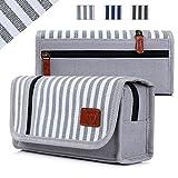 Pencil Case, FYY Premium Canvas Pencil Bag Pencil Box Gray
