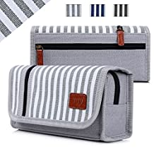 Pencil Case, FYY Premium Canvas Pencil Bag Pencil Box Gray