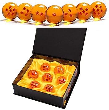 7 Piezas Bolas Dragon Ball, Bolas de Dragón 1 a 7 Estrellas con Caja de Regalo, Regalo de Año Nuevo para Coleccionar o Regalar para ...