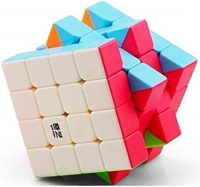 Adichai 4 X 4 X 4 Qiyi Qiyuan Sticker Less Magic Speed Cube (Multicolour)
