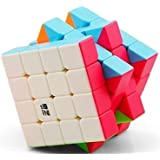 Adichai 4 X 4 X 4 Qiyi Qiyuan Sticker Less Magic Speed Cube (Multicolour)