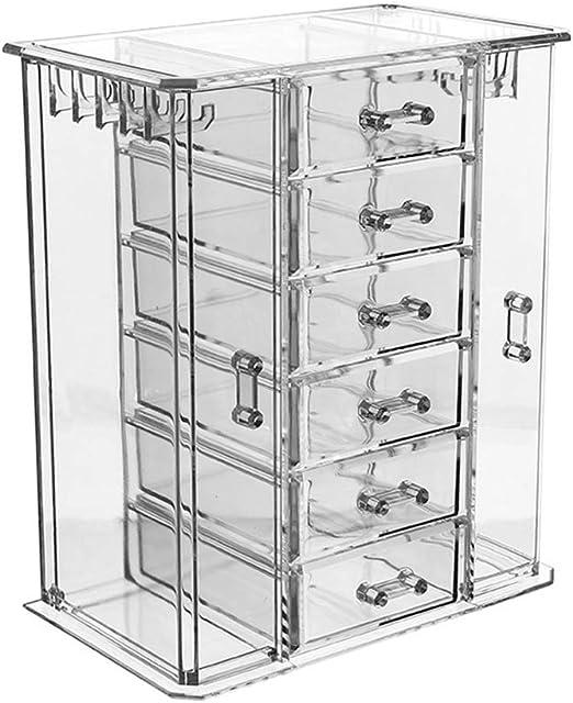 Organizador De Joyas Acrílico Transparente Cofre / Caja De ...